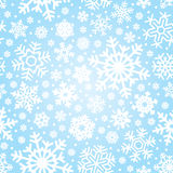 Seamless snowflakes pattern (vector) Stock Photography