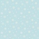 Seamless snowflakes pattern Royalty Free Stock Photos