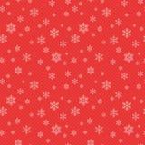 Seamless snowflakes pattern Stock Photo