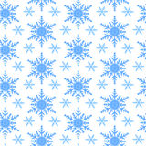 Seamless snowflakes pattern Stock Photo