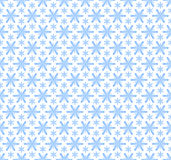 Seamless snowflakes pattern Stock Photography