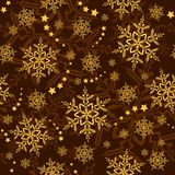 Seamless snowflakes and stars, winter wallpaper stock illustration