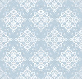 Seamless snowflakes vector pattern Stock Photography
