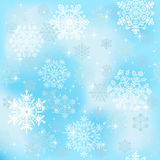 Seamless snowflakes wallpaper Stock Photos