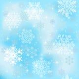 Seamless snowflakes wallpaper Stock Photos