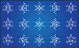 Seamless snowflakesbakgrund royaltyfri illustrationer