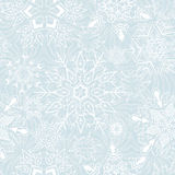 Seamless snowflakesbakgrund för vinter och chri Royaltyfri Fotografi