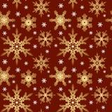 seamless snowflakesvektor för prydnad Arkivbilder