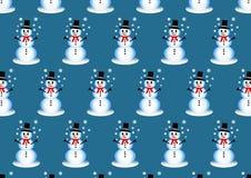 Seamless snowman winter pattern Royalty Free Stock Photo