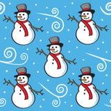 Seamless Snowmanmodell Royaltyfri Fotografi