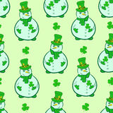 Seamless snowmen of Saint Patrick Royalty Free Stock Photo