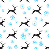 Seamless Snowy Reindeers Royalty Free Stock Photography