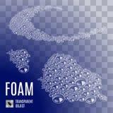 Seamless Soap-Foam. Illustration of Seamless Soap-Foam on Blue Transparent Background stock illustration
