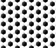 Seamless soccer ball background. Seamless black and white soccer ball background Royalty Free Stock Images
