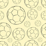 Seamless soccer ball contours Royalty Free Stock Photography
