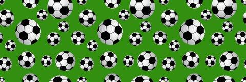 Seamless of soccer balls Stock Photos