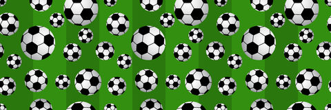 Seamless of soccer balls Stock Images