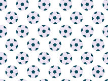 Seamless soccer balls, pattern with football balls. Football seamless background. Vector Royalty Free Stock Image