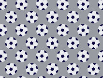 Seamless soccer balls, pattern with football balls. Football seamless background. Vector Stock Image
