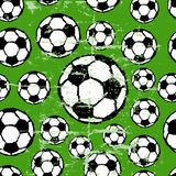 Seamless soccer pattern Stock Image