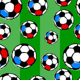 Seamless soccer pattern Stock Images