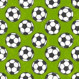 Seamless soccer pattern, vector background. Royalty Free Stock Image