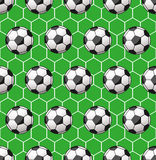 Seamless soccer pattern Royalty Free Stock Image