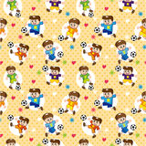 Seamless soccer player pattern Royalty Free Stock Photo