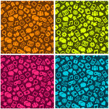 Seamless Social Media Pattern Stock Photo