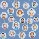 Seamless social network Royalty Free Stock Photos