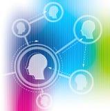 Seamless Social Network on social media Stock Photo