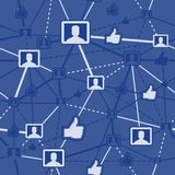 Seamless Social Networking. Seamless blue social networking background Royalty Free Stock Photo