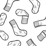 seamless sockor för bakgrund vektor illustrationer