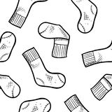 Seamless socks background Royalty Free Stock Images
