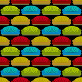 Seamless sofas pattern Royalty Free Stock Photos