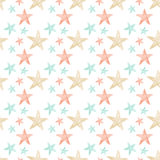 Seamless Soft Multi Color Stars Royalty Free Stock Images