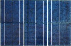 Seamless solar panel texture Stock Photo