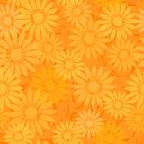 Seamless solrosor mönsan bakgrund royaltyfri illustrationer