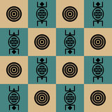 Seamless Southwestern Pattern Royalty Free Stock Photography