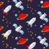 Seamless Space Background Pattern Royalty Free Stock Photos