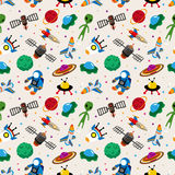 Seamless space pattern Stock Photo