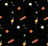 Seamless space pattern Royalty Free Stock Image