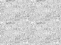 Seamless space pattern. Vector illustration file Royalty Free Stock Photos