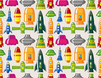 Seamless Spacecraft pattern. Vector drawing Royalty Free Stock Image