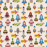 Seamless spaceship pattern Stock Image