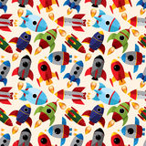 Seamless spaceship pattern Royalty Free Stock Photo