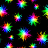 Seamless Spectrum Burst Pattern Royalty Free Stock Images