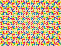 Seamless spectrum flowers pattern Royalty Free Stock Photos