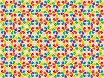 Seamless spectrum flowers pattern Royalty Free Stock Photos
