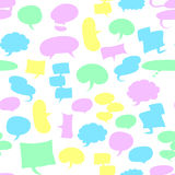 Seamless speech bubbles. There are seamless speech bubbles Royalty Free Stock Photos